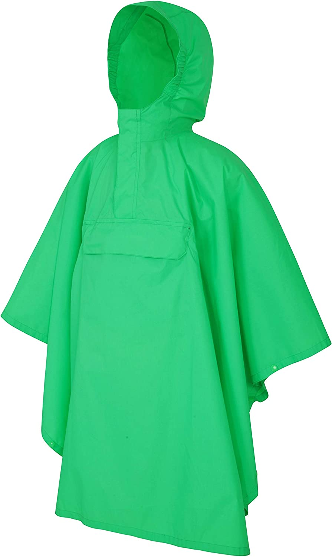 Wind Resistant Travel for Wet Weather School Lightweight /& Breathable Rain Coat for Girls /& Boys with Packaway Bag Mountain Warehouse Pakka Kids Waterproof Jacket