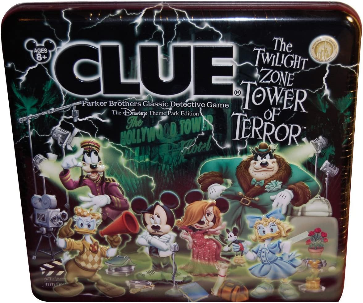 Clue The Twilight Zone Tower of Terror Disney Theme Park Edition by Parker Brothers: Amazon.es: Juguetes y juegos