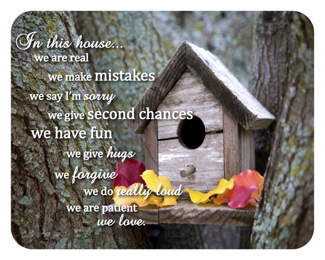 House Rules Sign: 14x11 inch decorative wood home decor plaque