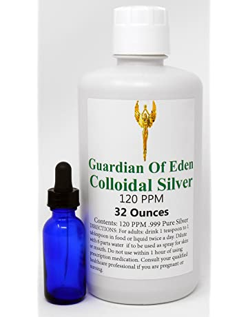 Lab Tested Certified 120ppm Concentrated Pure Colloidal Silver by GOE (1 quart) with free
