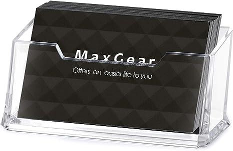 Amazon.com: Maxgear transparente titular de la tarjeta de ...