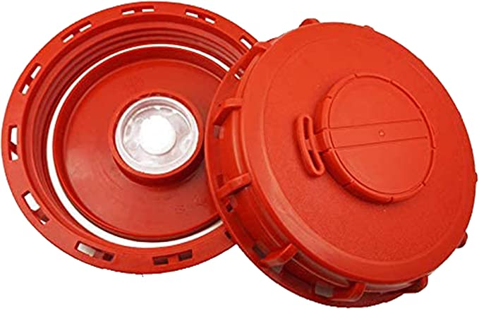 1000L IBC Water Tank Cover Lid Cap Valve Parts Garden Hose Dust Cover Red