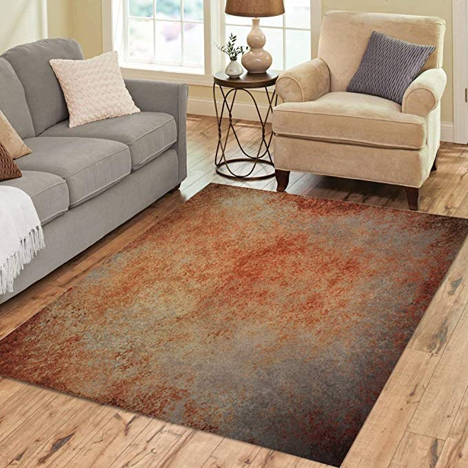 Pinbeam Area Rug Abstract Brown Rust Color Stain Splash Messy Dirty Home Decor Floor Rug 2 X 3 Carpet Kitchen Dining