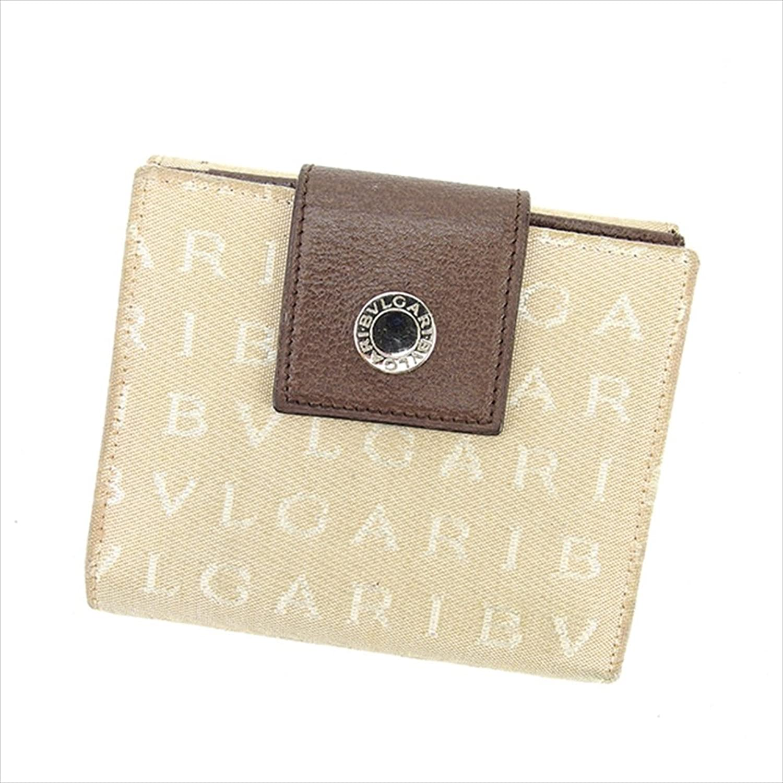 ブルガリ BVLGARI Wホック財布 二つ折り財布 ユニセックス ロゴマニア 中古 L1350 B06WGSBD1G