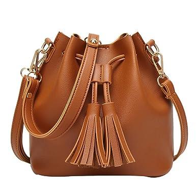 Fringe Bucket Bag Der Neuen Koreanischen Frauen Portable Messenger Schultertasche,A5-OneSize BFMEI