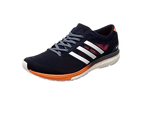 sale retailer f9e64 55cca adidas Mens Adizero Boston 6 Running Shoes Blue (Collegiate NavyFootwear  WhiteHi