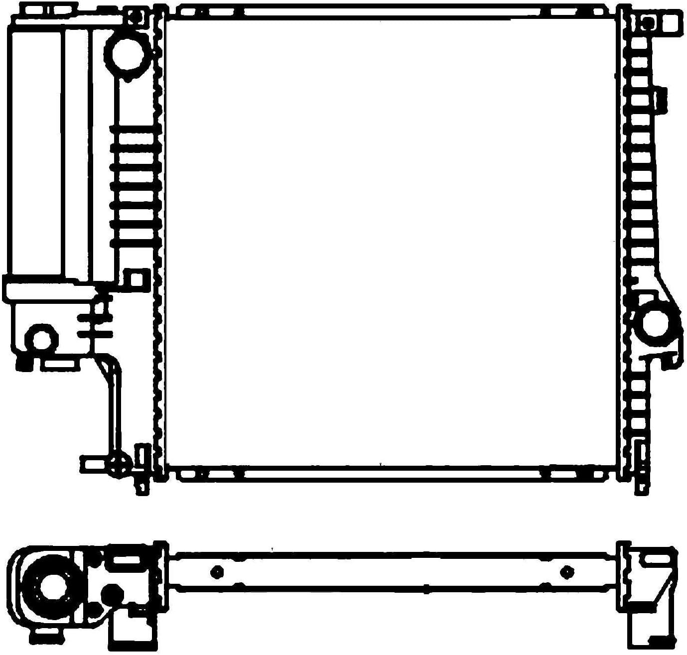 BEHR HELLA SERVICE 8MK 376 713-124  Radiador, refrigeración del motor