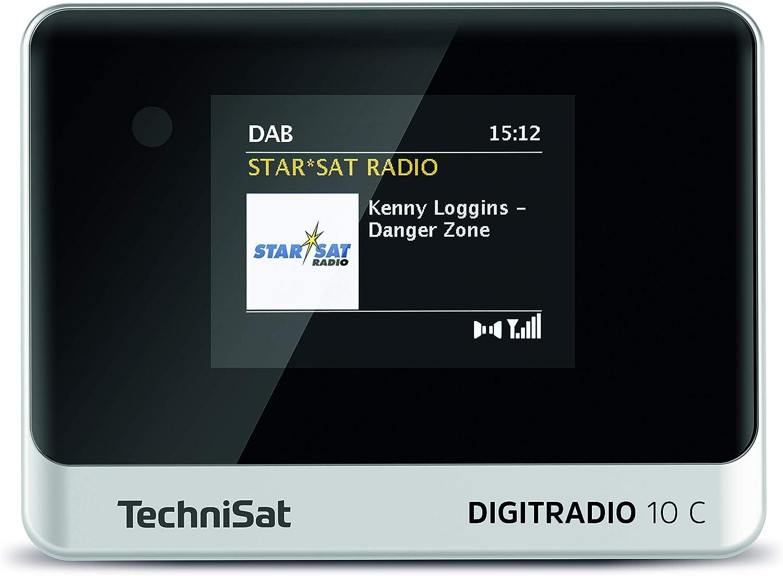 Technisat Digitradio 10 C Dab Digital Radio Adaptor Colour Display Bluetooth Remote Control Alarm Clock Optimal For Upgrading Existing Hi Fi Systems Black Silver Home Cinema Tv Video