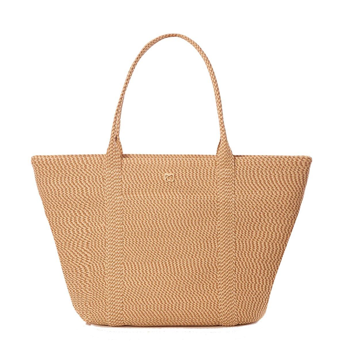 Eric Javits Luxury Fashion Designer Women's Handbag - Prep Tote - Peanut