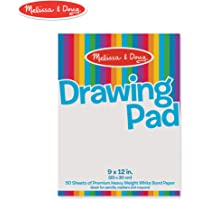 Melissa & Doug Drawing Pad (9 x 12 Inches) with 50 Sheets of White Bond Paper