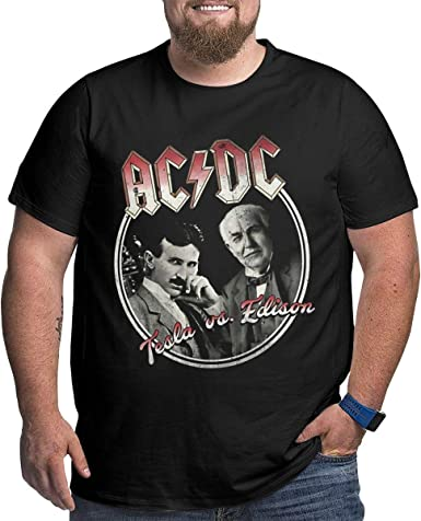 Hengtaichang Tesla y Edison Great ACDC Mans Camiseta ...