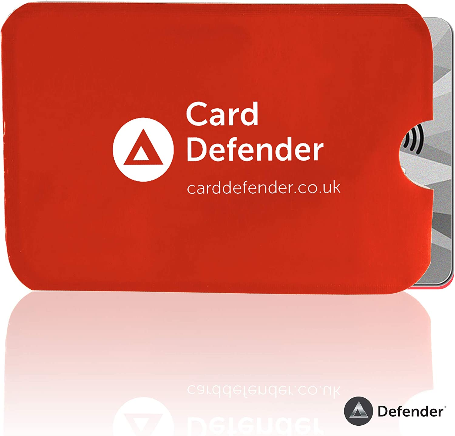 RFID Credit Card Protector Waterproof and Tear Proof Debit Card Protector Sleeve for Privacy and Property Safety by Defender Black, 5 x Pack RFID Blocking Sleeves Contactless Cards
