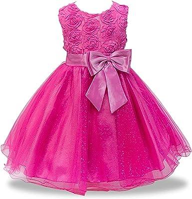 Kids Baby Flower Girls Party Sequins Dress Wedding Bridesmaid Dresses Princess
