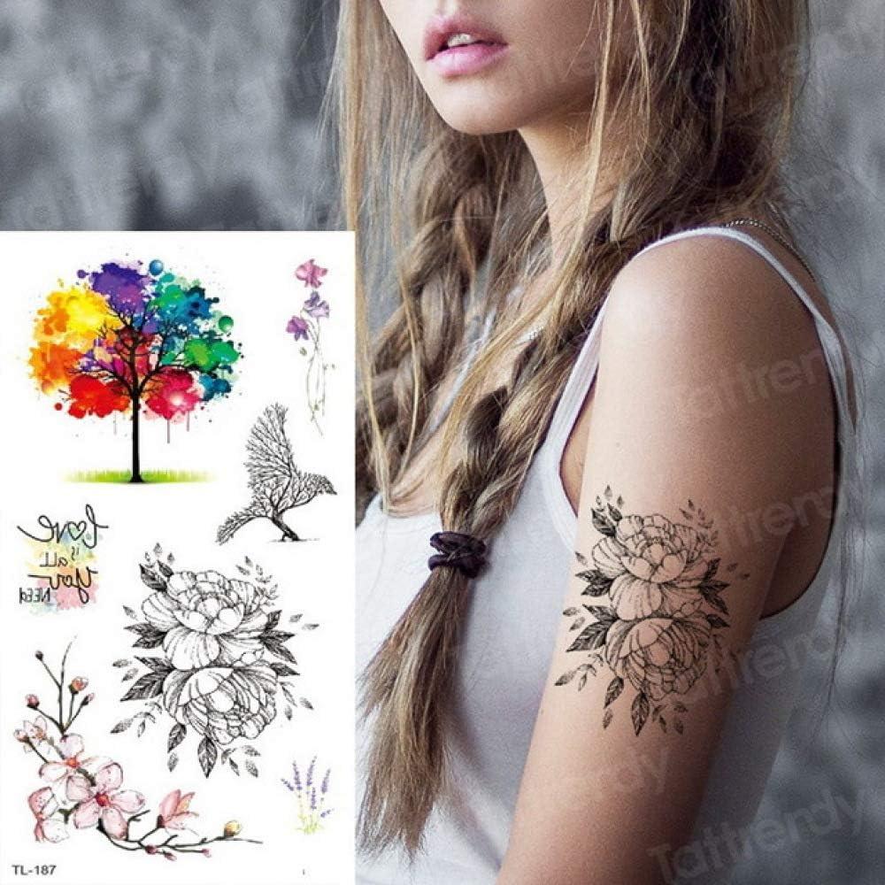 Handaxian 3 Piezas Tatuaje Pegatina Flor Tatuaje Mujer Flor única ...