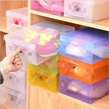 Deanyi Recipientes para Zapatillas de pl/ástico Transparente Recipientes Plegables Plegables apilables Recipientes para contenedores de Almacenamiento Impermeables Coloreado X 7/art/ículos para Casa