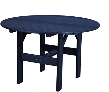 Amazon Com Wildridge Outdoor Recycled Plastic Classic 46 Round Outdoor Dining Table Lead Time To Ship 6 To 8 Weeks Garden Outdoor