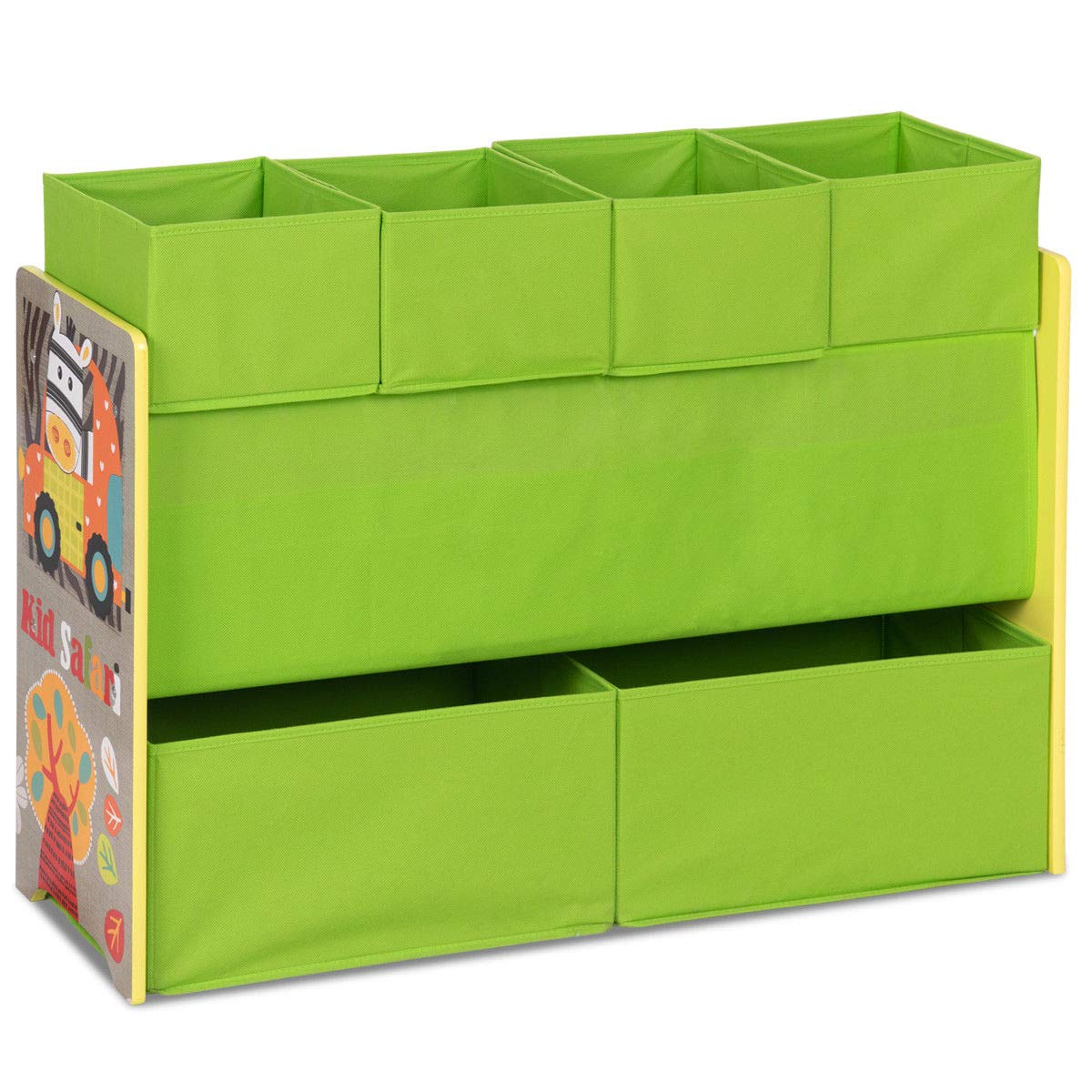 Green Kids Toys Organizer Boxes Storage Rack w/Removable Bins with Ebook