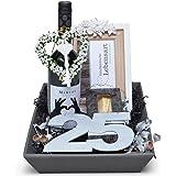 Geschenkkorb Silber, Silberhochzeit, 25 Jahre, Je nach Anlass wird der Geschenkkorb mit Ihren persönlichen Grüßen versendet.