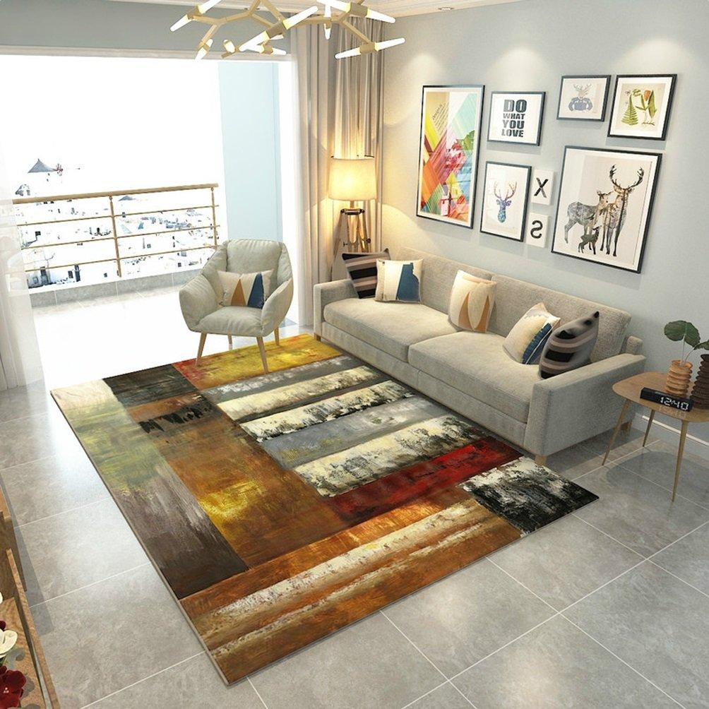 RUG LUYIASI- Teppich abstrakt Teppich Wohnzimmer Home Kreativwirtschaft Rechteck Schlafzimmer Nachttisch Teppich Non-Slip mat (Farbe   A, größe   200x300cm)