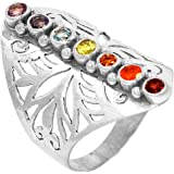 Xtremegems Healing Chakra 925 Sterling Silver Ring Jewelry Size 7 CP213-7