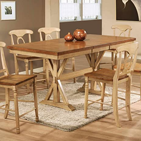 winners only quails run counter height dining table with 18 in butterfly leaf