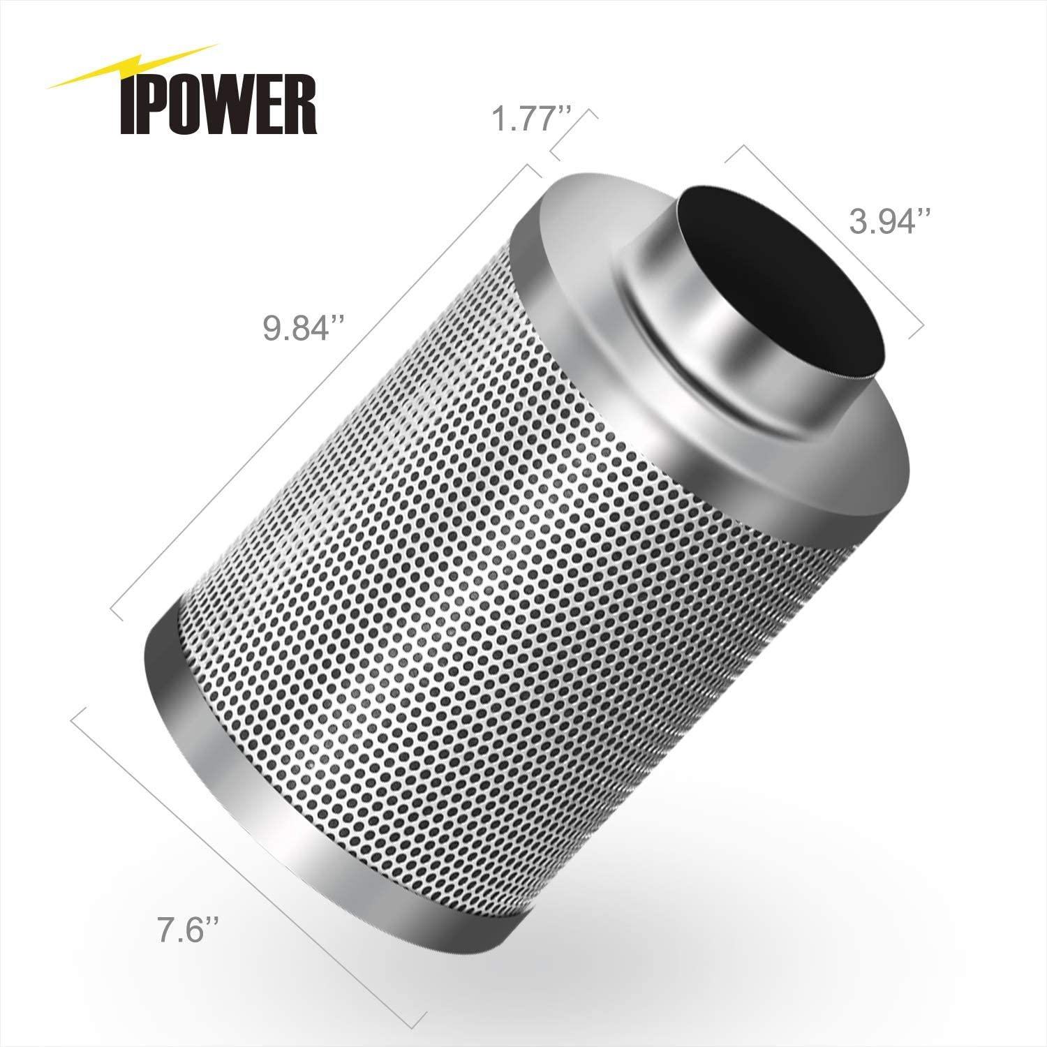 """4/"""" 150CFM Hydroponic Air Carbon Filter Odor Control Scrubber for Inline Exhaust"""