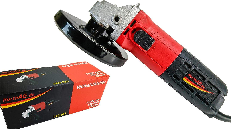 Hurthag Angle disque Professional disque de 125 mm de diam/ètre tournant avec le moteur de protection M14 900 W 11000 rpm poign/ée broche de transmission blind/ée de protection de plaquette