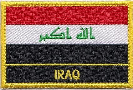 Irak bordado de la bandera de Azerbaiyán Rectangular/Sew encendido o parche escudo del Real