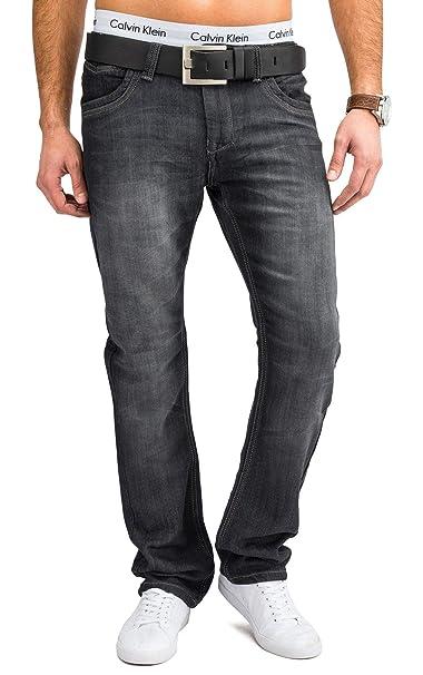 Pantalones vaqueros para hombre Jeans H1666, Farben:Gris ...