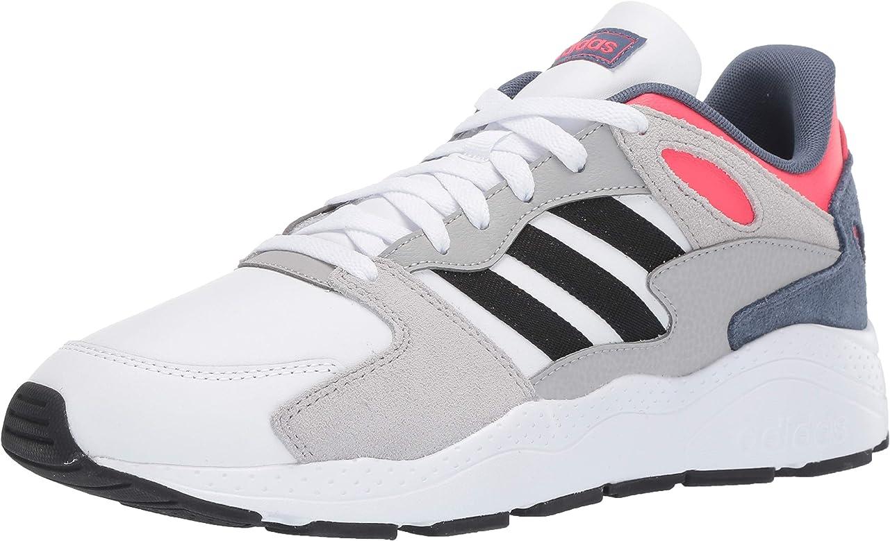 Adidas Men's Chaos Sneaker, White/Black