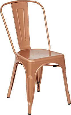 OSP Designs Bristow Armless Chair, Copper Finish, 4 Pack