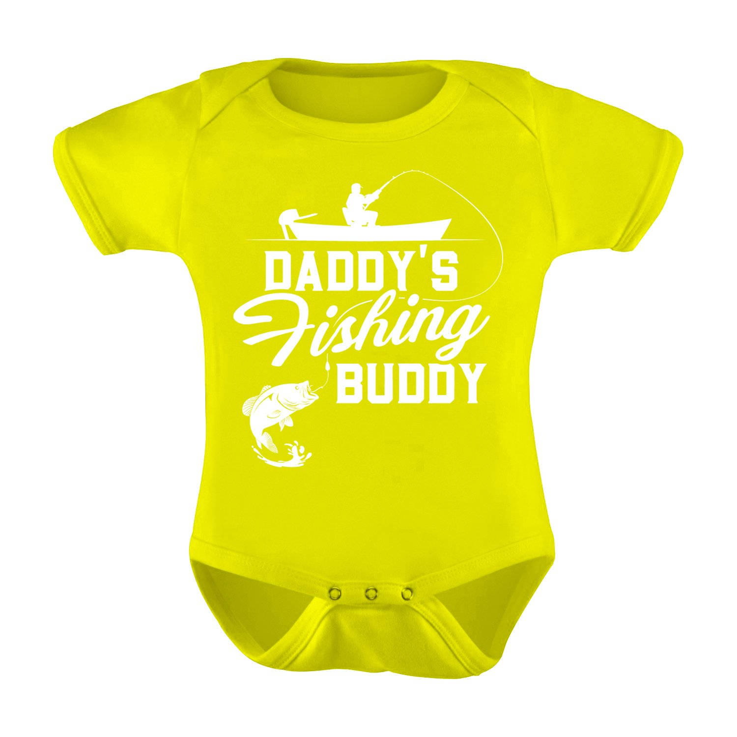 Fresh Cotton Daddys Fishing Buddy Infant Baby Romper