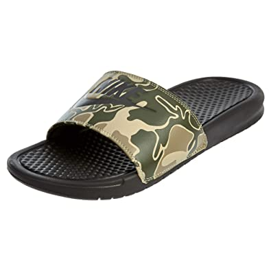 365bf5ce9b0d Image Unavailable. Image not available for. Color  Nike Benassi JDI Print  Men s Sandals Velvet Brown ...
