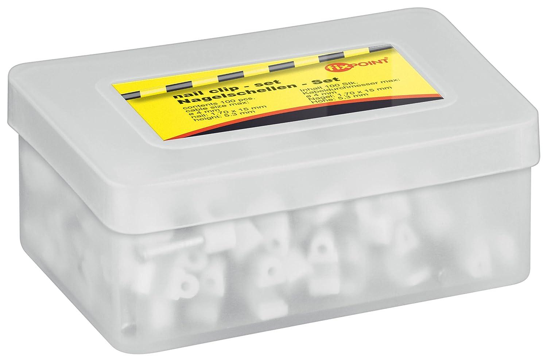 bianco Graffe fermacavo diametro: 4,0 mm 100 pz 200 pz