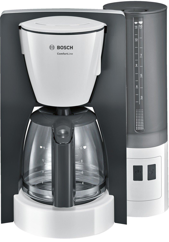 automatisch Endabschaltung w/ählbar in 20//40//60 minuten 1200 W Bosch TKA6A041 Kaffeemaschine ComfortLine Aromaschutz-Glaskanne wei/ß // dunkelgrau