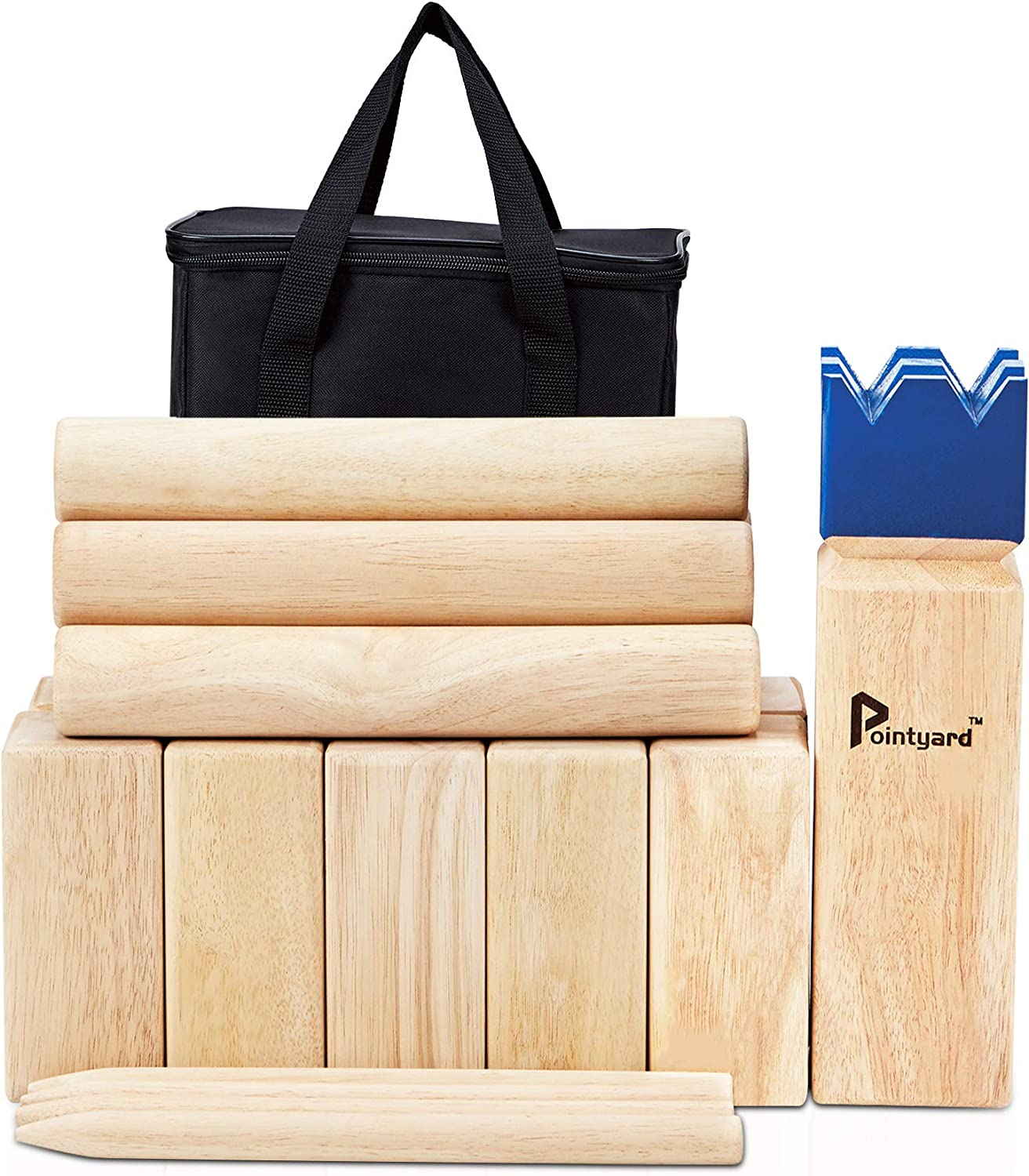 Kubb Game Set Premium Size Outdoor Yard Tossing Game with Carrying Case Family
