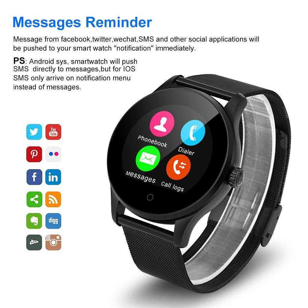 Amazon.com: XHZNDZ K88H – Smart Wrist Watch with Heart Rate ...