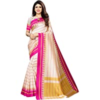 SIRIL Women's Poly Silk Printed Saree with Blouse
