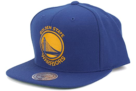 check out cd53a 2e999 ... authentic amazon mitchell ness mens golden state warriors snapback one  size blue clothing f2ad7 ff0ca