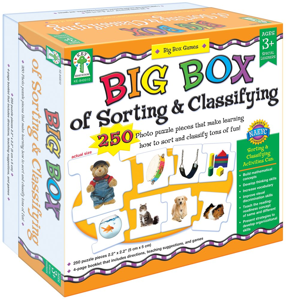 Key Education Publishing Big Box of Sorting and Classifying Board Game (840010) Carson-Dellosa