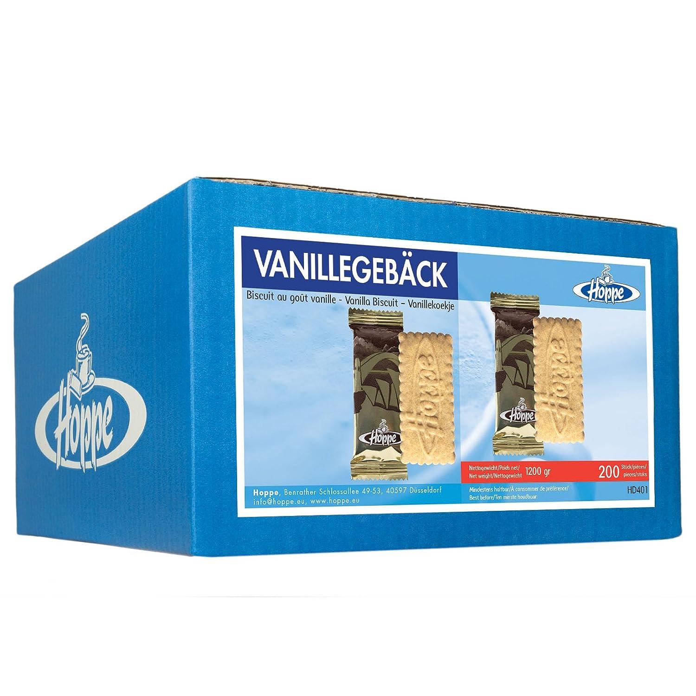 Hoppe Vanillegebäck Mono, Kekse, Plätzchen, einzeln verpackt, 200 Stück, 1200g Hoppe Vanillegebäck Mono Plätzchen 200 Stück Hoppe GmbH