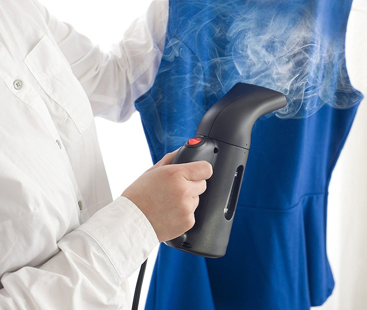 Portable Handheld Garment Steamer, Mini Steamer Powerful Fast Heat Up, 140ml Capacity Perfect for Home and Travel, Black.