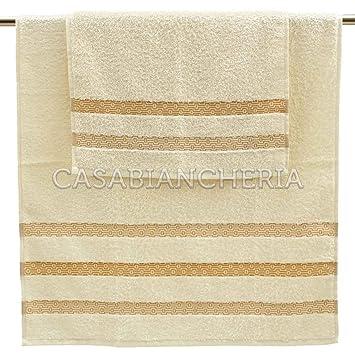 Gabel Pegaso Set Asciugamano e Ospite Bianco 100 x 60 x 0.8 cm 100/% Cotone 2 Unit/à