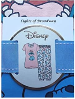 Primark Ladies Girls Womens Disney LILO and Stitch Pajama Pyjama T Shirt PJ Set UK S