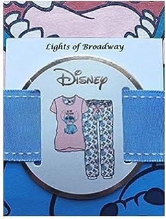 Primark Ladies Girls Womens Disney LILO and Stitch Pajama Pyjama T Shirt PJ Set UK S