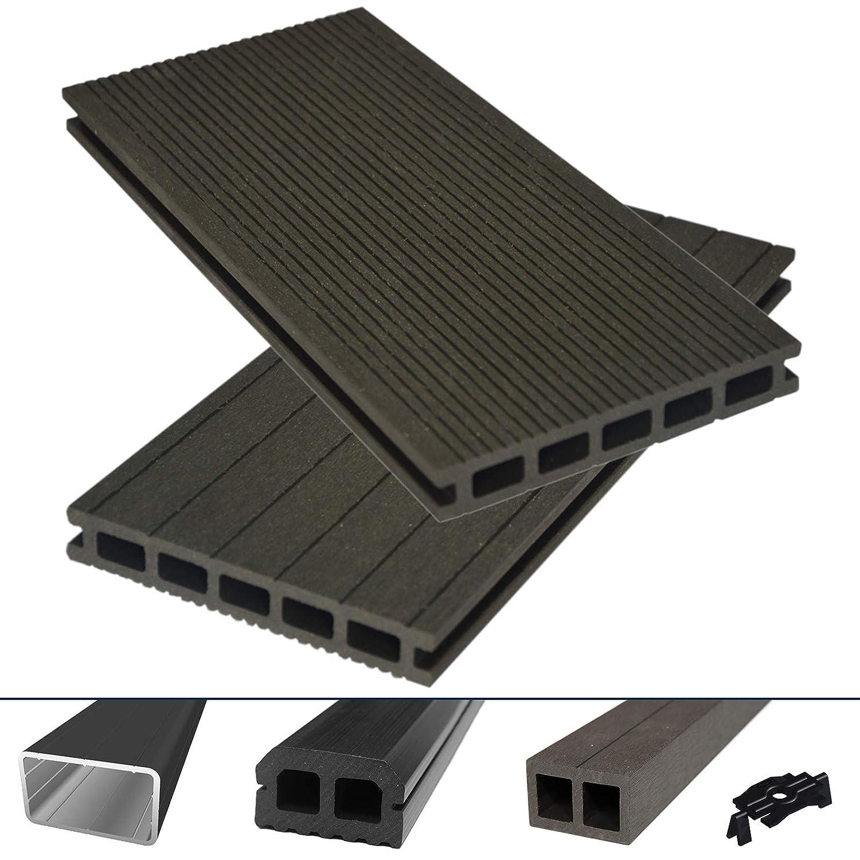 HORI® - Juego completo de tablones de terraza para WPC/BPC, color ...