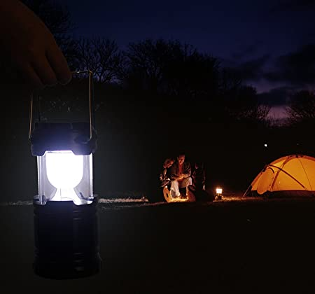 Naivete LED Solar Emergency Light Lantern + USB Mobile Charging point, 3 Power Source Solar, Battery, Lithium Battery, Travel Camping Lantern - (Blue, Black, Golden, Brown) - Color will be as per stock Multicolor