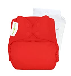 Image: bumGenius One-Size Cloth Diaper | Stretchy stay-dry lining is super soft | Wicks moisture away from delicate skin | Trim, snug, comfortable stretchy tabs provide custom fit