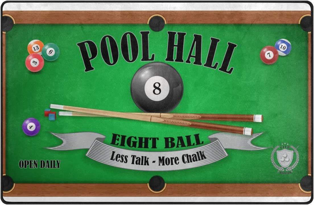 LORVIES Billar Póster Pool Hall Ocho Bola Área Alfombra Alfombra Antideslizante Alfombra Felpudo para Sala de Estar Dormitorio 31 x 20 Pulgadas: Amazon.es: Juguetes y ...
