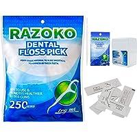 Púas dentales para hilo dental 250 unidades limpias/saludables